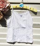 116-os Next csipkeszegélyes trikó, fehér