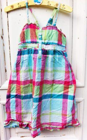 128-as H&M, kockás ruha