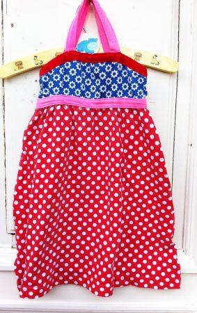 110/116-os Europe Kids ,pöttyös ruha