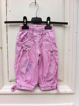 68/74-es Rózsaszín kord nadrág