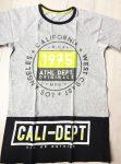 158-as Boys póló, szürke-fekete