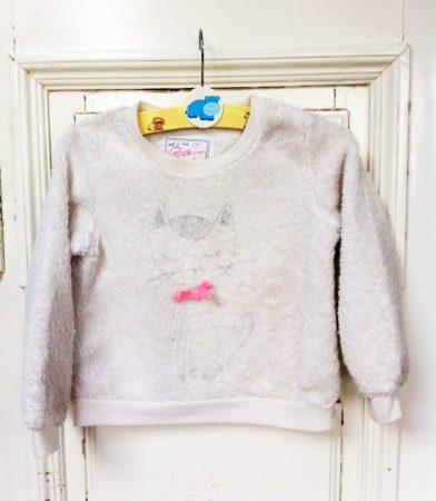 116-os Fashion vastag pulcsi, cicás
