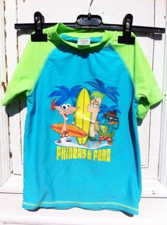 122/128-as Phineas & Ferb uv felső