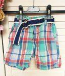 80-as H&M kockás rövidnadrág övvel