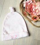 0-6 hónapos bébi plüss sapka, halvány rózsaszín
