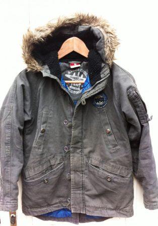 140-es New Adventure vastag, bélelt téli kabát