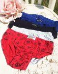 110/116-os vegyes színű és márkájú alsónadrág-csomag