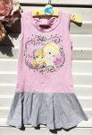 122-es Disney Frozen rózsaszín-szürke ruha