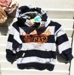 98-as Palomino csíkos kapucnis pulóver