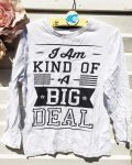 134-es Rebel fehér hosszú ujjú póló felirattal