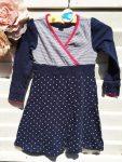104-es Frendz csíkos-csillagos hosszú ujjú ruha