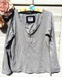 164-es H&M szürke hosszú ujjú póló